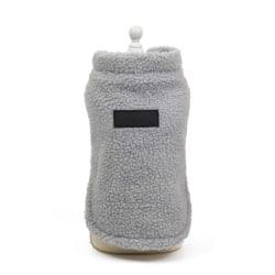 Dog Warm Cashmere Costume 2 legged Thickening Coat Gray XL