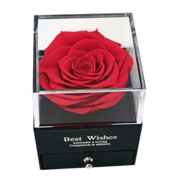EAcrylic Display Box With Rose Wedding Supplies with Mirror
