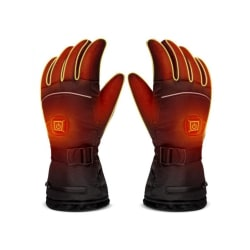 Electric heating gloves Waterproof Outdoor Anti-cold Supplies Black
