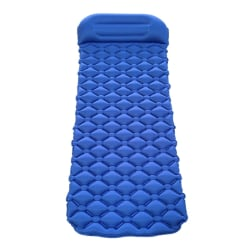 Foldable Inflatable Sleeping Pad Camping Mat With Pillow