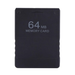 Game Memory Card For PS 2 Console External Games Data Storage Black 64MB