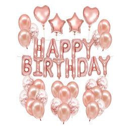 Grattis på födelsedagsfest dekoration aluminiumfilm ballong kostym