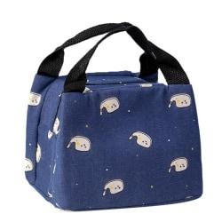 Imitation Linen Insulated Lunch Bag Portable Zipper DL2