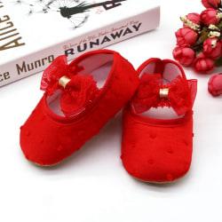 Infant solid color cotton bowknot princess toddler shoes