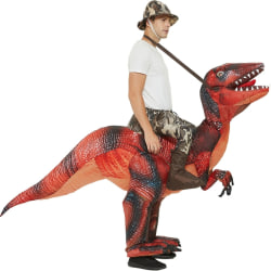 Inflatable Rid Dinosaur Dress Costume Halloween Suit For Adult Red