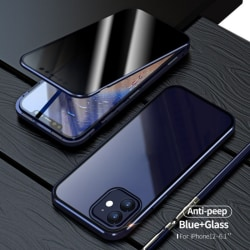 Iphone 12/PRO Tempered Magnetic Protective Case Anti-Spy 360 Blue iPhone 12/pro