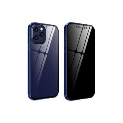 Iphone 12 PROMAX Magnetiskt anti-kikande dubbelsidigt glasfodral