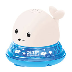 Kids Automatic Induction Water Spray Floating Whale Bath Toy as the picture