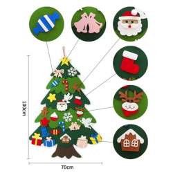 Kids Handmade DIY Toy Felt Stereo Christmas Tree Stitching Decor as the picture 100*70cm