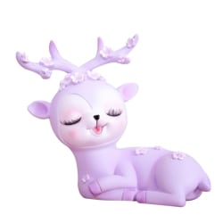 Kids Plum Deer Piggy Bank Money Boxes PURPLE