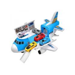 Kids Transport Aircraft Passenger Plane Educational Storage Toys Blue