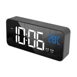 LED Digital Alarm Clock BLACK