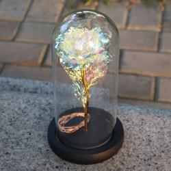 LED Light String Artificial Gold Foil Rose Flower (No Battery ) colorful