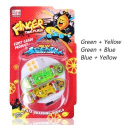 LED Mini Alloy Fingerboard Professional Finger SkateBoard  Toy Random color 2pcs