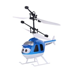 Mini 3D Helicopter Electric Infrared Toy Gift for Kids Blue