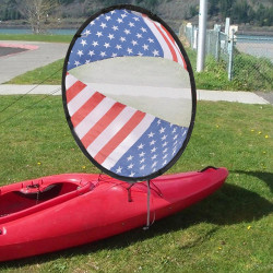 National Flag Foldable Kayak Boat Wind Sail Red