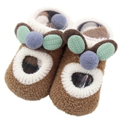 Newborn Baby Floor Socks Infant Indoor Anti Slip Toddler Shoes Khaki