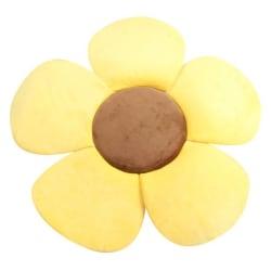Newborn Bathtub Pad Foldable Soft Flower Petal Shape Yellow