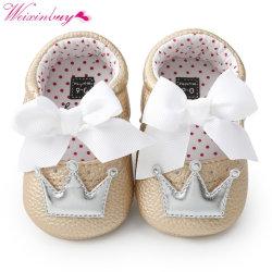Newborn Bow Princess Cute PU leather Non-slip Soft Shoe 0-18m