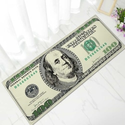 One Hundred Dollar Bill Print Area Rug 40x100cm