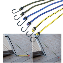 Outdoor Bundled Rope 6 Pcs Elastic Band Camping Accessories Multi