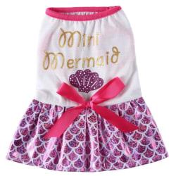 Pet Cosplay Costume Funny Cartoon Printing Princess Dress Set Purple M