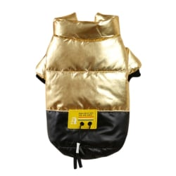 Pet Dog Cotton Padded Coat Thickened Stand-up Collar Down Jacket Golden XS