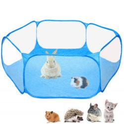 Pet Playpen Portable Open Indoor / Outdoor Small Animal Cage Blue