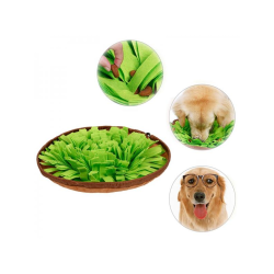 Pet Sniffing Bowl Mat Kingtree Snuffle Dog Puzzle Toys Green