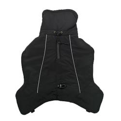 Pet Winter Clothes Thicken Warm waterproof ski jacket Black L