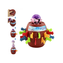 Pirate Barrel Game Children Party Stimulate Funny Toys Brown