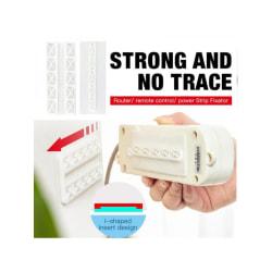 Självhäftande väggmonterad Power Strip Fixator Punch-Free Seamless