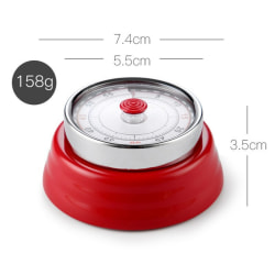 Stainless Steel Kitchen Timer Magnet Round A