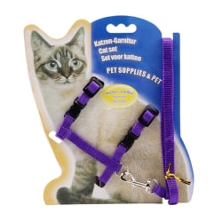 Useful Cat Pet Chest Strap Purple