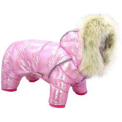 Warm Pet Dog Clothing Winter Four-Legged Coat Pink L