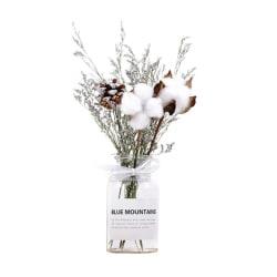 Vit torkad blomvasuppsättning för rekvisita heminredning