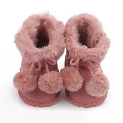 winnter baby plus velvet warm boots non-slip soft sole shoe