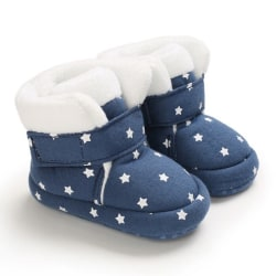 Winter Baby plush cute star print  toddler boots