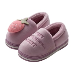 Winter Children Cartoon Cat Home Slippers Warm Flip Flop Shoes Pink 20cm
