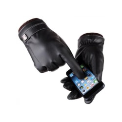 Winter Plus Velvet Touch-screen Leather Gloves Waterproof