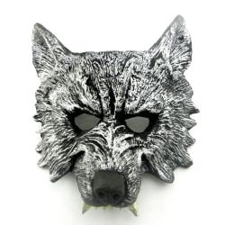 Maskeradmask, varg, mörk antik silverfärg antik mörksilver