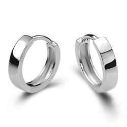 Silvercreoler: mellan (9mm) silver mellan