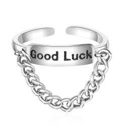 Silverring: Good Luck silver