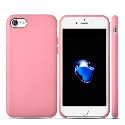 Premium Läder Mobilskal till Apple iPhone 7 Plus - Rosaguld Guld