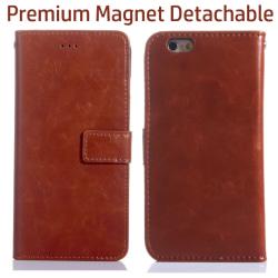 Premium Magnet Plånboksfodral iPhone 7 Plus- Brun Brun