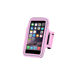 Sportarmband Fodral för iPhone XS - Rosa Rosa