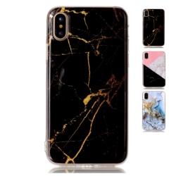 TPU Mobilskal till Apple iPhone Xs - Marble- Svart/Guld Svart
