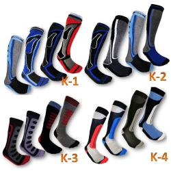 4 Par Högstaberg Sport Skidstrumpor--Socks 4 PAR K-01