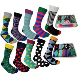 Färgglada Strumpor 10 Par -Socks  Storlek 40-45 MultiColor