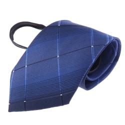 Fashion Lazy Zipper Men's Tie Classic Solid 8cm Jacquard Slips
